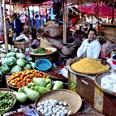 Visite du marché de Nyaung Oo