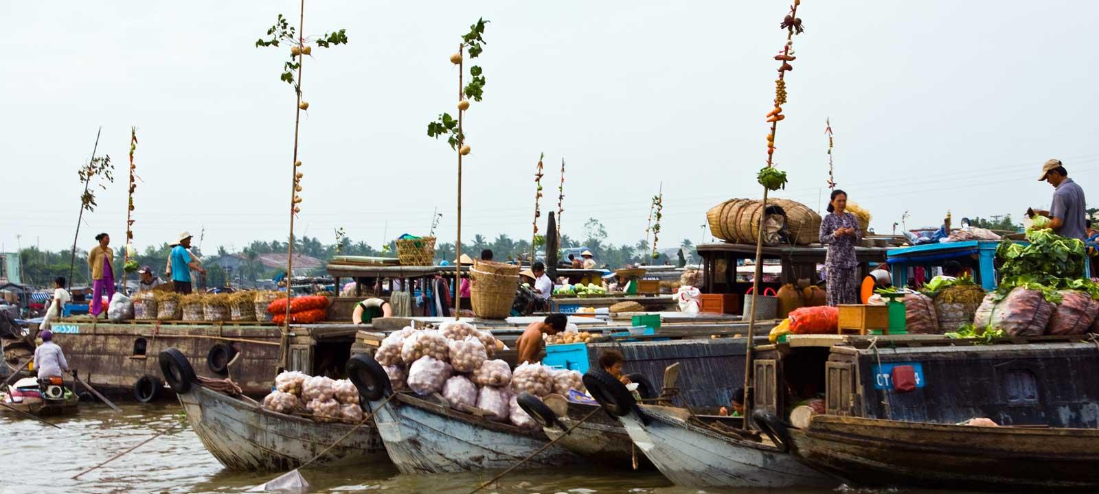 Les marchés flottants du Delta du Mekong