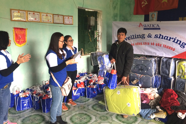 Mission humanitaire d'Asiatica Fondation au village Pheo B - Janvier 2018