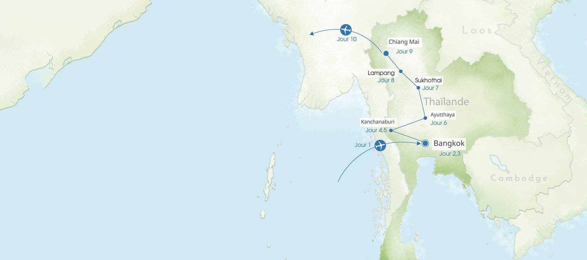 Thailande du nord au centre
