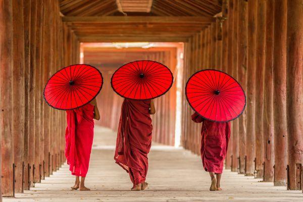 myanmar, moines, temple