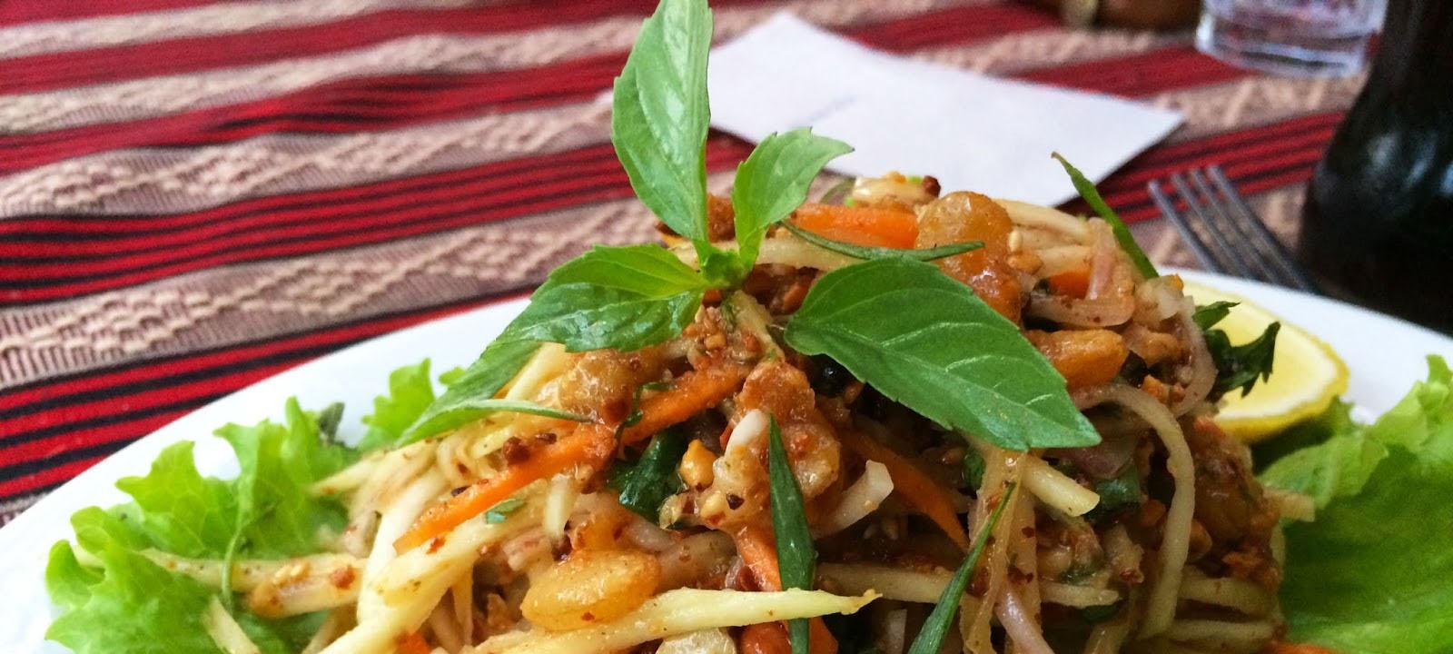 La cuisine célèbre et délicieuse à Bagan, Myanmar