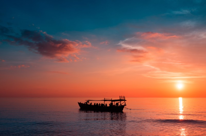 koh rong samloem, cambodge, plage, voyage, asiatica travel, coucher soleil