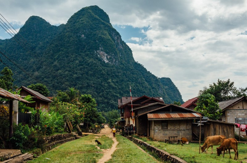 nong khiaw, laos, voyage, asiatica travel, muong ngoi, village