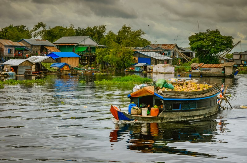 siem reap, cambodge, voyage, asiatica travel, tonle sap, lac, village flottant
